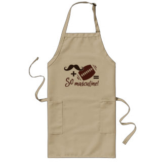 Mustache & Football apron - choose style & color
