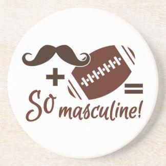 Mustache & Football coaster