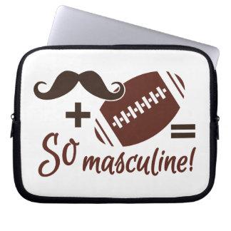 Mustache & Football laptop sleeve