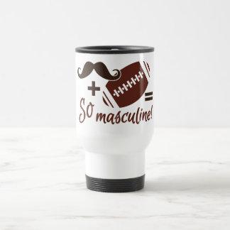 Mustache & Football mug - choose style & color