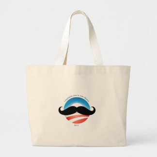 Mustache for Obama - 2012 Jumbo Tote Bag