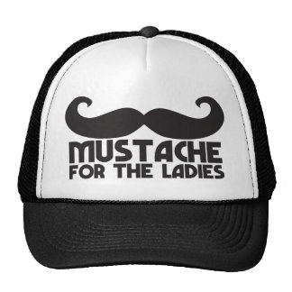 Mustache for the ladies cap