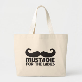 Mustache for the ladies large tote bag