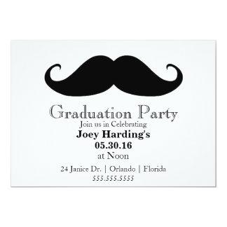 Mustache Graduation Party 13 Cm X 18 Cm Invitation Card