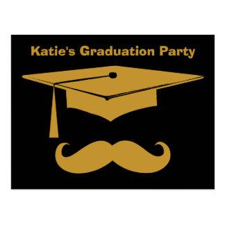 Mustache Graduation Postcard