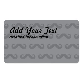 Mustache Greys Pack Of Standard Business Cards
