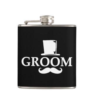 Mustache Groom Flasks