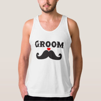 Mustache Groom Tank Top