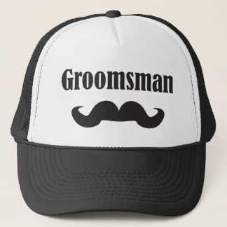 Mustache Groomsman Trucker Hat