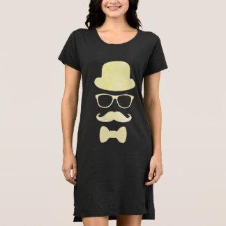Mustache Hat and Glasses Disguise Dress