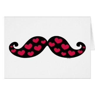 Mustache Hearts Card