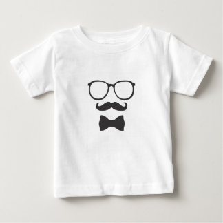 Mustache Hipster Bowtie Glasses Baby T-Shirt