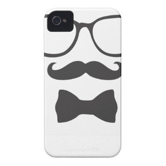 Mustache Hipster Bowtie Glasses iPhone 4 Case-Mate Case