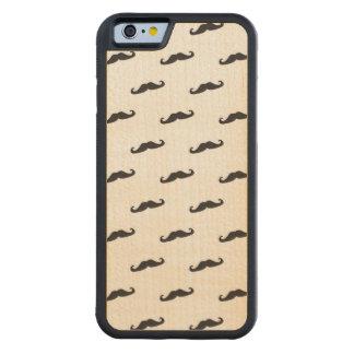Mustache hipster pattern 2 maple iPhone 6 bumper