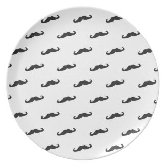 Mustache hipster pattern 2 party plates