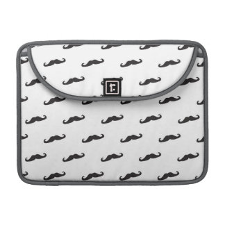 Mustache hipster pattern 2 sleeves for MacBooks
