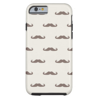 Mustache hipster pattern 3 tough iPhone 6 case