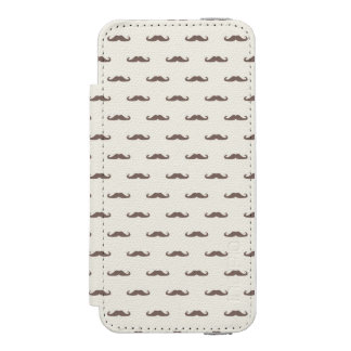 Mustache hipster pattern 3 incipio watson™ iPhone 5 wallet case