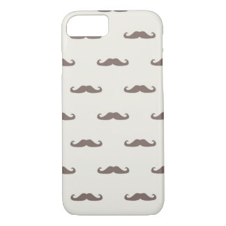 Mustache hipster pattern 3 iPhone 7 case