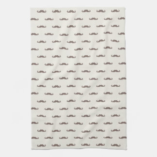 Mustache hipster pattern 3 tea towel