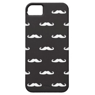 Mustache hipster pattern barely there iPhone 5 case
