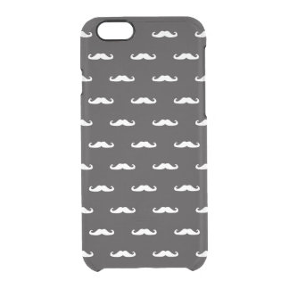 Mustache hipster pattern clear iPhone 6/6S case