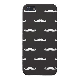 Mustache hipster pattern iPhone 5 case