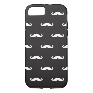 Mustache hipster pattern iPhone 7 case