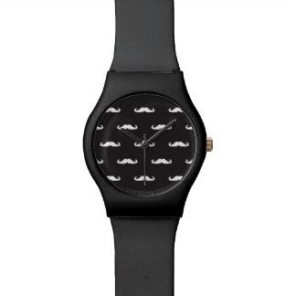 Mustache hipster pattern wrist watches