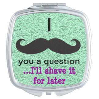 Mustache Humor Compact Mirror
