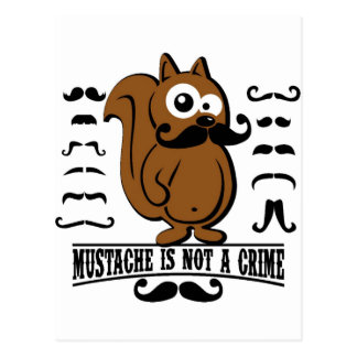 mustache is not a crime post card