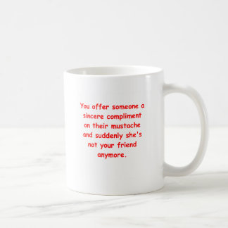 mustache joke coffee mug