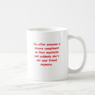 mustache joke coffee mugs