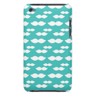 Mustache Light Blue Pattern Barely There iPod Cover