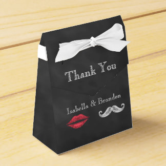 Mustache & Lips Favor Box Favour Boxes