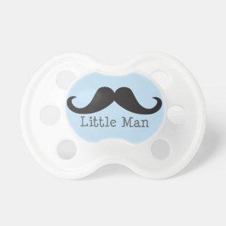 """Mustache """"Little Man"""" Baby Pacifier (blue)"""