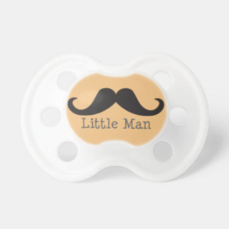 """Mustache """"Little Man"""" Baby Pacifier (coral)"""