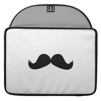 "Mustache Macbook Pro 15"" Rickshaw Flap Sleeve Sleeves For MacBook Pro"