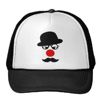 Mustache Man with Hat and Clown Nose