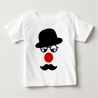 Mustache Man with Hat and Clown Nose Baby T-Shirt