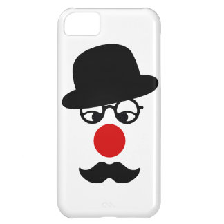 Mustache Man with Hat and Clown Nose iPhone 5C Covers