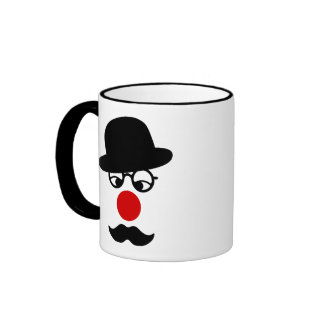 Mustache Man with Hat and Clown Nose Coffee Mugs