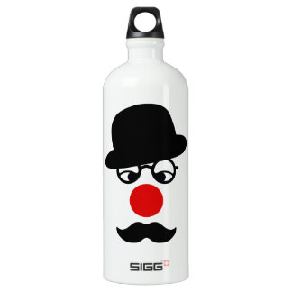 Mustache Man with Hat and Clown Nose SIGG Traveller 1.0L Water Bottle