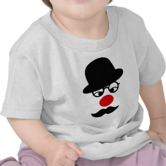 Mustache Man with Hat and Clown Nose Tees