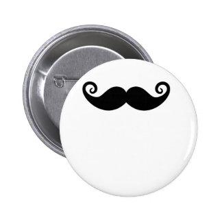Mustache Mania 6 Cm Round Badge