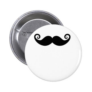 Mustache Mania Pinback Buttons