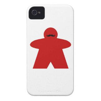 Mustache Meeple iphone case Case-Mate iPhone 4 Case