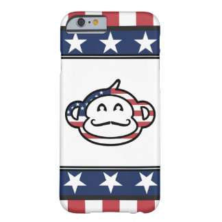 Mustache Monkey America Barely There iPhone 6 Case