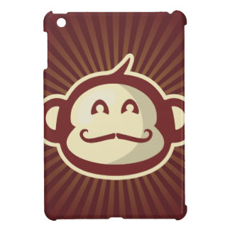 Mustache Monkey Red iPad Mini Cover