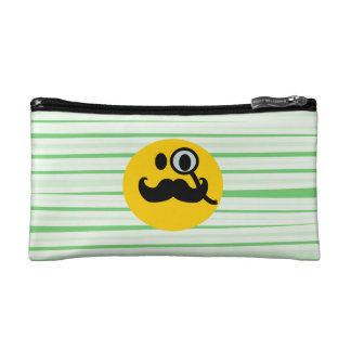 Mustache monocle Smiley Cosmetic Bag